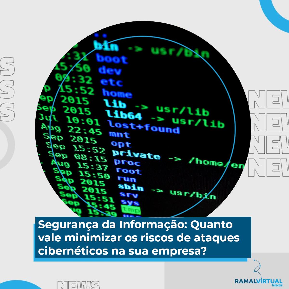 [Segurança da Informação: Quanto vale minimizar os riscos de ataques cibernéticos na sua empresa?]